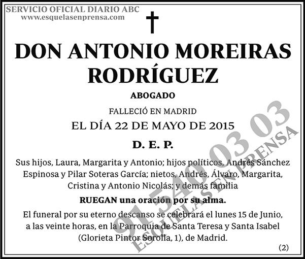 Antonio Moreiras Rodríguez